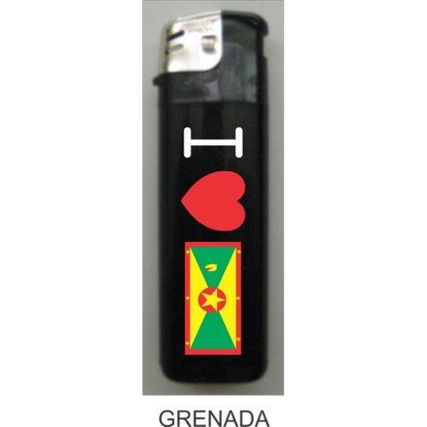 Grenada 3 Piece - Grenada Love Flag Lighters - 3 Pieces