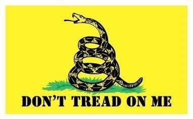 JMM Industries Gadsden Flag Vinyl Decal Sticker Don't Tread on Me Car Window Bumper 5-Inches by 3-Inches Premium Quality UV Resistant Laminate PDS011