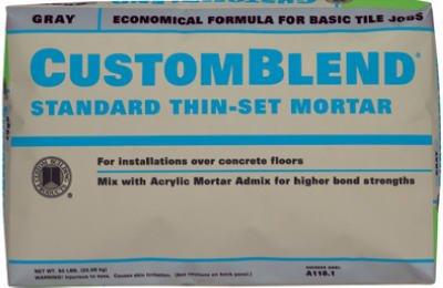 Custom Bldg Products CBTSG Custom Blend Thin Set Mortar Gray - Custom blend thin set mortar
