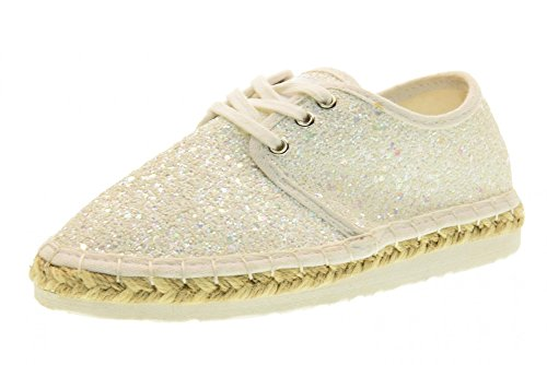 Lelli 35 Kelly Ibiza Lk4608 la01 Shoes Bianco 2 Glitter Espadrille 5 Lightweight uk wwfzxTr