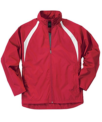 Charles River Apparel 8954 Youth TeamPro Jacket,Red/White,XL