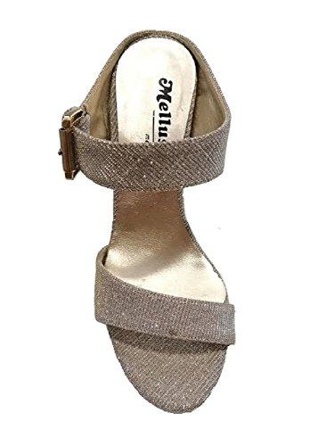 MELLUSO - Zapatos de vestir para mujer Platino