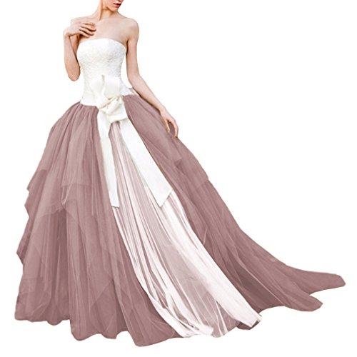 WDPL Women's Layered Ruffles Bridal Wedding Skirt Size 10...