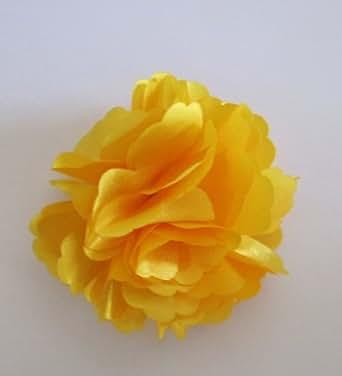 A Girl Company Yellow Satin Flower Hair Clip/Brooch