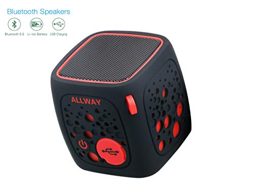 Portable Wireless Bluetooth Speakers ALLWAY Bluetooth 5.0 Computer Speaker with Micro SD Card Slot for Laptop,MacBook Pro,iPhone,Ipad,MP3,MP4,Echo Dot,Car,TV and More