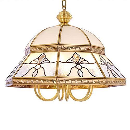 European Style All Bronze Chandelier/Pendent Lamp Lamps Baroque Style Luxurious Copper Lighting Fixture Parlour Bedchamber Restaurant Chandelier/Pendent Lamp Single Head Brass Color, BOSSLV