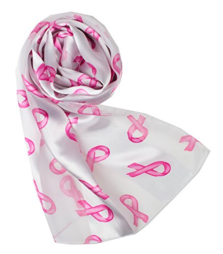 - Crown Women's Breast Cancer Awareness Pink Ribbons Scarf with Gift Box (WHPK)