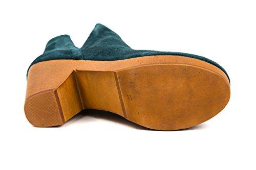 Jeffrey Campbell Damen Plateau Stiefeletten Holz Gr. 37 Blau