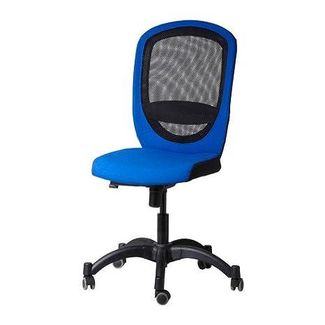 IKEA Vilgot - Silla giratoria, azul