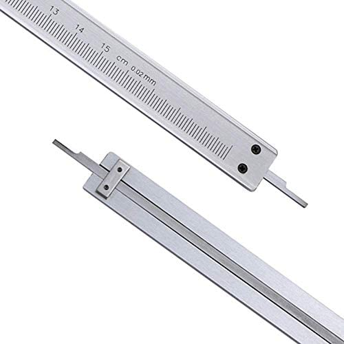 GUONING-L tool 150mm Vernier Caliper Carbon Steel Caliper Accuracy 0.02mm (Size : 0-150mm) Digital Caliper