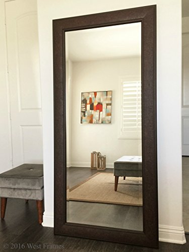 Cheap West Frames Marcello Full Floor Rustic Walnut Brown Mirror