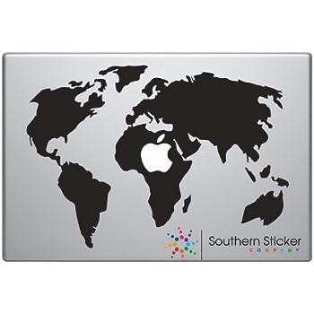 Amazon macbook world map silhouette macbook symbol keypad macbook world map silhouette macbook symbol keypad iphone apple ipad decal skin sticker laptop gumiabroncs Gallery