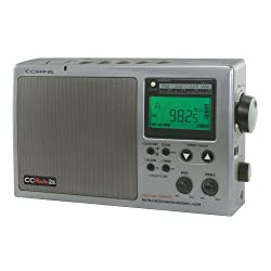C. Crane CC Radio-2E Enhanced Portable AM FM Weather and 2-Meter Ham Band (Titanium) CC2TE