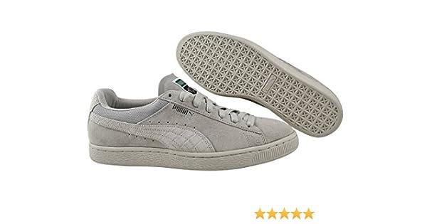 Puma - Zapatillas de Piel Lisa para Hombre Blanco Blanco: Amazon ...