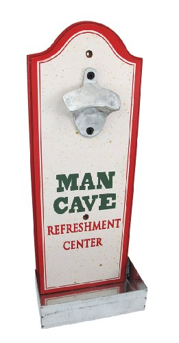 `Man Cave Refreshment Center` Wall Mounted Bottle Opener