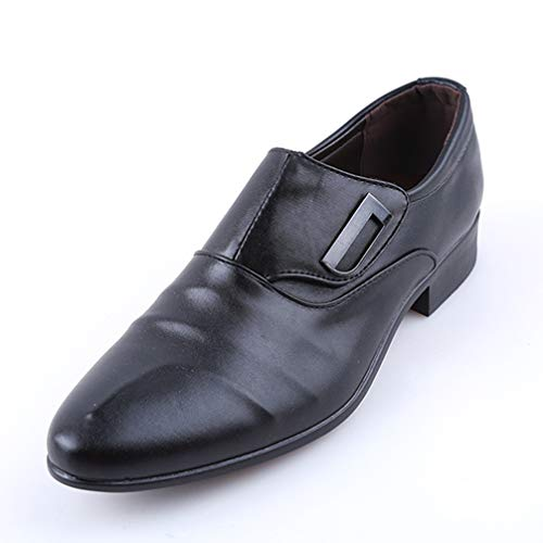 Phil Betty Men Business Oxford Shoes Single Buckle Slip On Black Brown Dress Shoes Big (Teds Vibe Single)