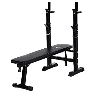 Goplus Adjustable Weight Bench –Weight Lifting Bench – Multi Function for Fitness Exercise and Strength Workout Fully Adjustable Weight Catches Bench Press Foldable Incline Exercise Bench