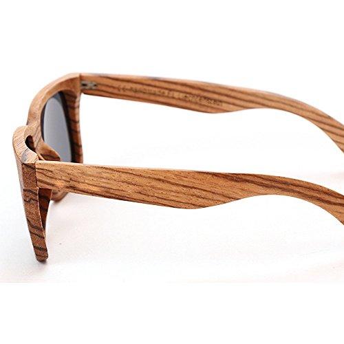 hechas clásicas Eyewear sol polarizadas de Marco Protección Hombre cuadradas de Adult de Gafas mano para bambú leopardo de de unisex gafas sol estampado madera de de UV sol a mujer Gafas de gafas sol UdfdqzxwF
