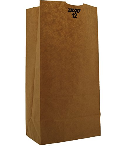 Duro 18412 SOS Bag 40# 100% Recycled Natural Kraft, 500 Piece
