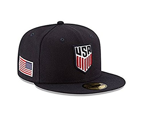 100% Authentic NWT, U.S. Soccer Very Rare Limited Ed. 95fifty fitted Hat : Navy (7 5/8) (Ed Rare Ltd)