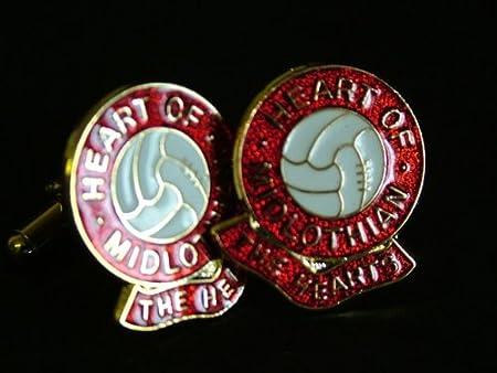 HEART OF MIDLOTHIAN FOOTBALL CLUB CUFFLINKS