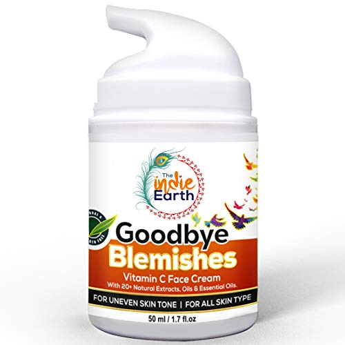 The Indie Earth Good Bye Blemishes Vitamin C Face Cream, For Uneven Skin Tone, Pigmentation & Blemish Removal With Gotu…