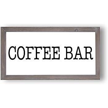 Amazon Com Sweet Water Decor Coffee Bar Wood Sign 9x17 Country