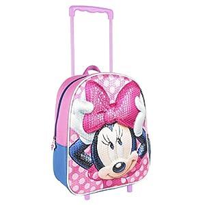 Disney Minnie Mouse Zaino con Ruote per Bambina, Zaino per Scuola per Bambini, Trolley Viaggio Valigia Bagaglio a Mano… 9 spesavip