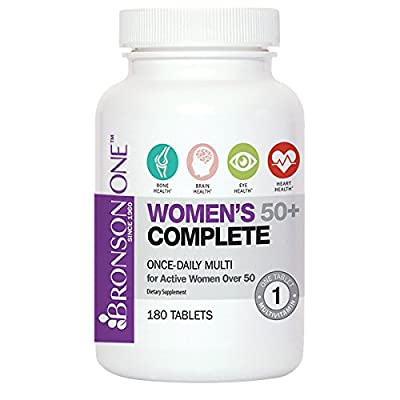Bronson ONE Daily Women's 50+ Complete Multivitamin Multimineral (180)