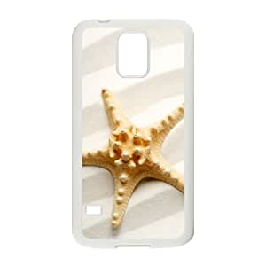 DANGDANG Beach Starfish Shell Phone for samsung galaxy s5 White Cover Phone Case [Pattern-1]