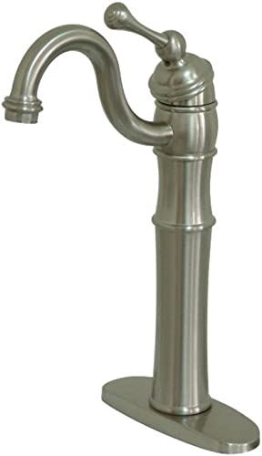 Kingston Brass KB3428BL Victorian Vessel Sink Faucet, Brushed Nickel