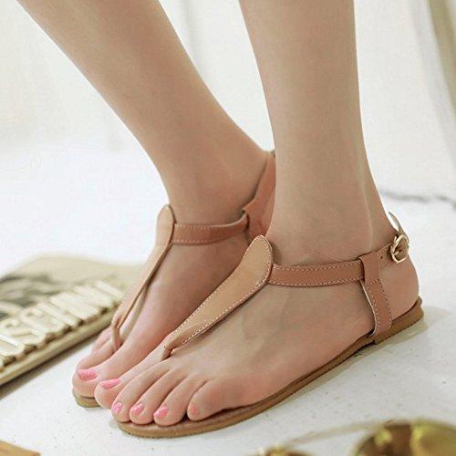 Mujer Sandalias Sintético Albaricoque de SJJH AqxR07wxp