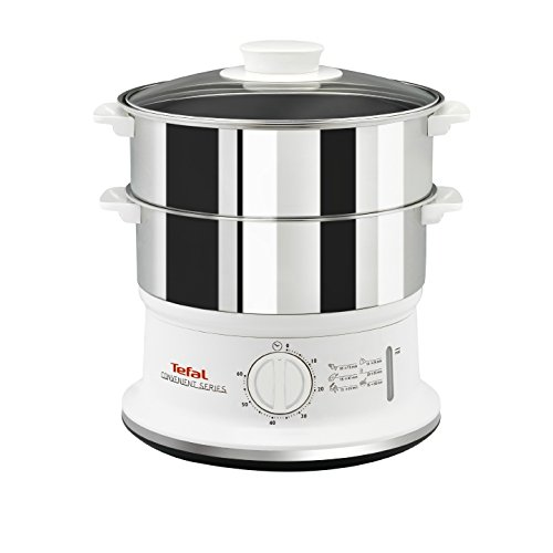 Tefal VC145140 Convenient Series Steamer, 2 Durable Stainless Steel Bowls,...