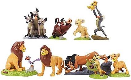 Amazon Com Mubco Disney The Lion King Samba Scar Musafa Rafiki Timon Nala Pumba Shenzi Azizi Kamari Zazu Sarafina Set Of 9 Piece Toys Games