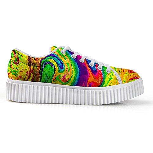 Abbracci Idea Galassia Scarpe Da Donna Fashion Sneakers Stringate Colorate 3