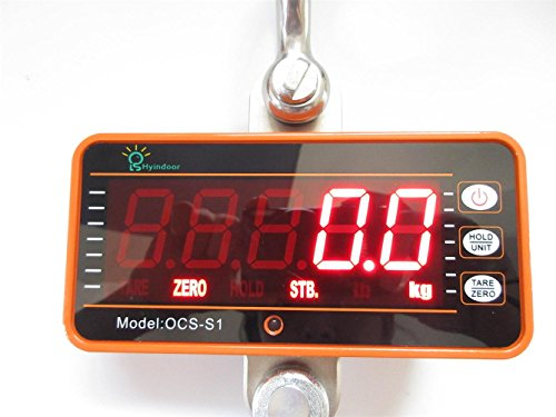 Hyindoor 1000kg/2000lb Digital Hanging Scale Industrial Heavy Duty Crane Scale Smart High Accuracy Electronic Crane Scale (1000kg with remote control) by HYINDOOR (Image #1)