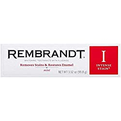 PACK OF 6 - Rembrandt Intense Stain Whitening Toothpaste, Mint, 3.5 oz