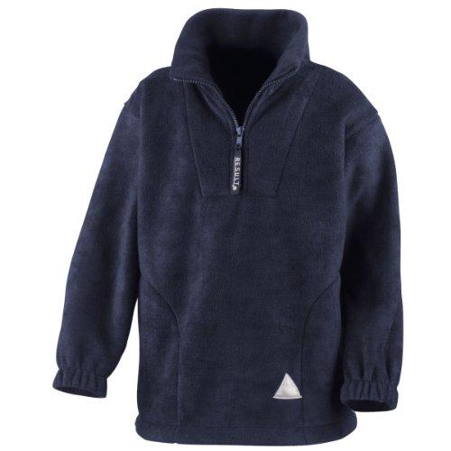 Result Junior/Youth Active Fleece Top 1/4 Zip Unlined Navy XL