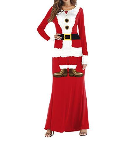 Fashion Women's Christmas Dress Costume Santa Claus Cosplay(Red Medium) ()