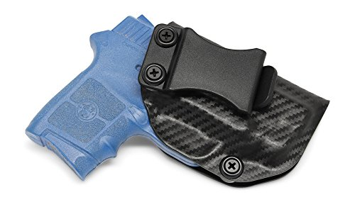 Concealment Express IWB KYDEX Holster: fits S&W Bodyguard 380 (w/or w/o Integrated RED Laser Only) (CF BLK, RH) - Inside Waistband Concealed Carry - Adj. Cant/Retention - US Made
