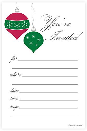 Christmas Ornaments Holiday Invitations Envelopes product image