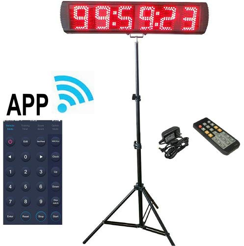 GANXIN App-Control 5'' High 6 Digits LED Race Clock for sale  Delivered anywhere in Canada
