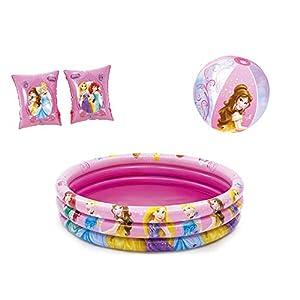 JOVAL – Piscina Refrescante Infantil Princesas Disney de 122 Centímetros de Diámetro – Piscina para Niños para Jardín, Terraza o Casa