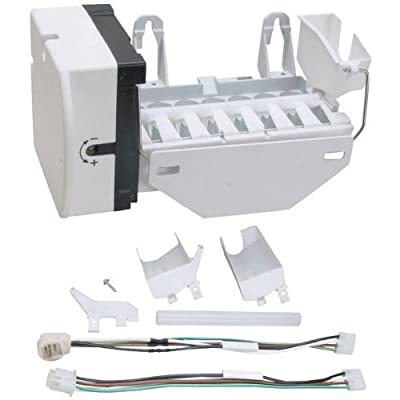 1 - Ice Maker, Replacement for GE(R) OEM WR30X10093, Includes installation instructions & multiple wiring harnesses, ERWR30X10093 by ERP