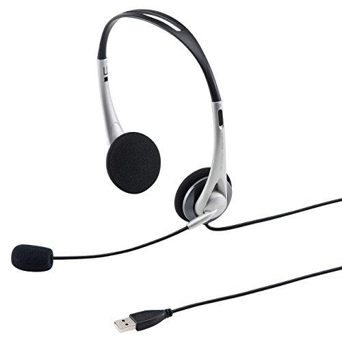 산와 써플라이 USB헤드 세트/헤드폰 실버 MM-HSUSB16SV