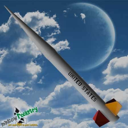Madcow Rocketry 4'' Fiberglass Nike Smoke Rocket Kit