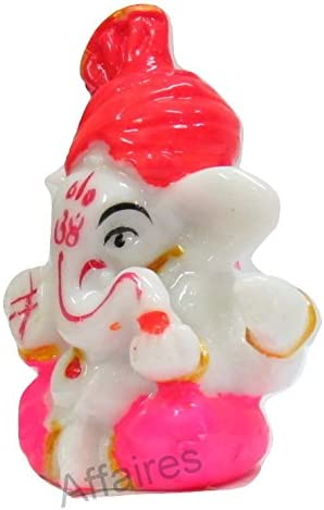 Affaires Turban Pagdi Ganesha Ganesh Ganpati Car Dashboard Idol Hindu Figurine Showpiece Sculpture Decorative Gift G-490