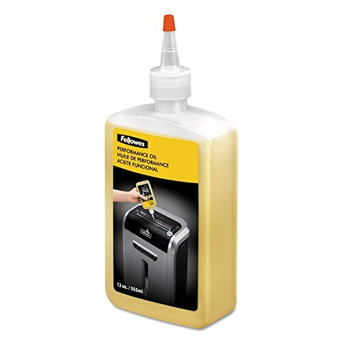 3 X Fellowes Shredder Oil, 12 oz. Bottle with Extension Nozzle (35250)