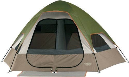Wenzel Big Bend 12-by-10 Foot Five-Person Two-Room Family Dome Tent, Outdoor Stuffs