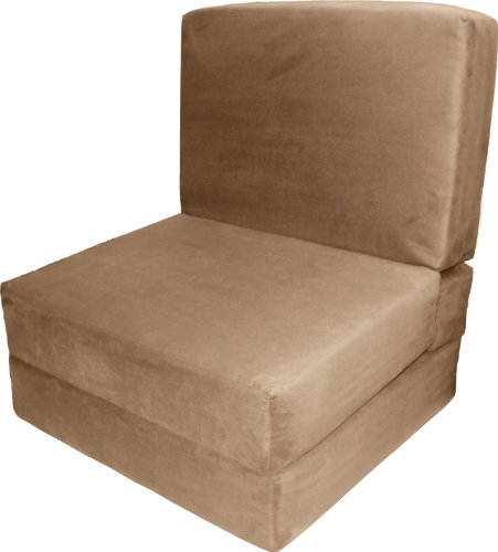 Nomad Flip Chair Sleeper Bed, Microfiber Suede Khaki